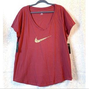 Nike Womens Logo Short Sleeve T-Shirt Plus Size 1X